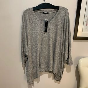 Nally and Millie Poncho Grey Top